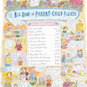 'big Book Of Parent-child Fights' Art Print