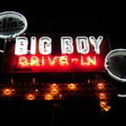 Big Boy Drive-in At Night Art Print