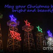 Big Bright Christmas Greeting  Art Print