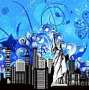 Big City Blues 4 Liberty Art Print