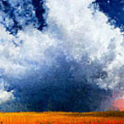 Big Cloud In A Field Art Print