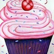 Big Cupcake Art Print
