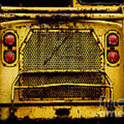 Big Dump Truck Grille Art Print by Amy Cicconi