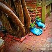 Big Foot Left His Filo Shoes Behind Art Print by Lorraine Heath