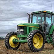 Big Green Tractor Art Print by Robert Jones