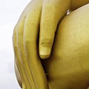 Big Hand Buddha Image Art Print by Tosporn Preede
