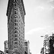 Big In The Big Apple - Bw Art Print by Hannes Cmarits