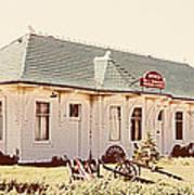 Big L Railroad Station Art Print