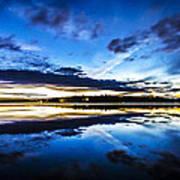 Big Lake After Sunset Art Print