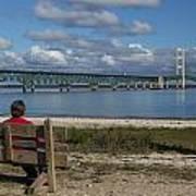 Big Mackinac Bridge 71 Art Print