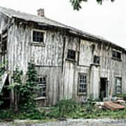 Big Old Barn - Rustic - Agricultural Buildings Art Print by Gary Heller