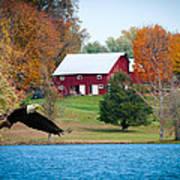 Big Red Barn Eagle Rocky Fork  Art Print