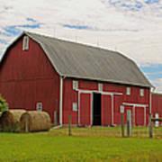 Big Red Barn II - Carroll County Indiana Art Print