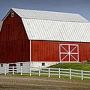 Big Red Barn In West Michigan Art Print