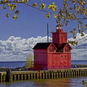 Big Red Lighthouse By Holland Michigan No.0255 Art Print