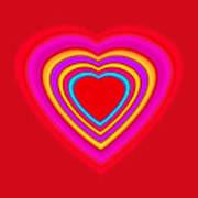 Big Red Love Art Print