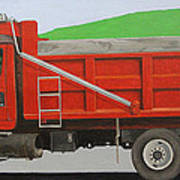 Big Red Truck Art Print