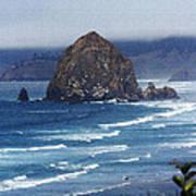 Big Rock On The Oregon Coast Art Print