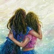 Big Sister Hug Art Print