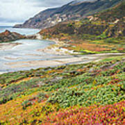 Big Sur California In Autumn Art Print by Pierre Leclerc Photography