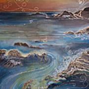 Big Sur In Sunset Art Print