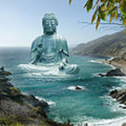 Big Sur Tea Garden Buddha Art Print by Alixandra Mullins