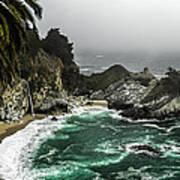 Big Sur's Emerald Oaza Art Print