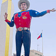 Big Tex And The Cotton Bowl  Art Print
