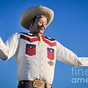 Big Tex - State Fair Of Texas - No. 2 By D. Perry Lawrence Art Print