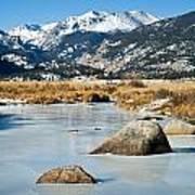 Big Thompson River Through Moraine Park In Rocky Mountain National Park Art Print