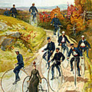 Big Wheel Bicycles Art Print