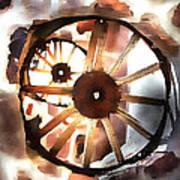 Big Wheel Wall Art Print