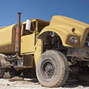 Big Wheels Not Rollin Water Truck Art Print