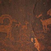 Bighorn Sheep Petroglyph Zion National Park Art Print