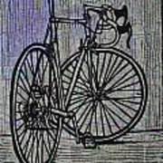 Bike 4 On Map Art Print by William Cauthern