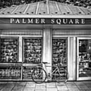 Bike At Palmer Square Book Store In Princeton Art Print