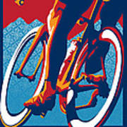 Bike Hard Art Print