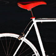 Bike In Black White And Red No 1 Art Print