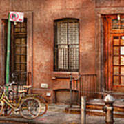 Bike - Ny - Urban - Two Complete Bikes Art Print
