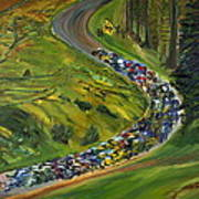 Bike Race Belgium Arden Spring Classics Art Print