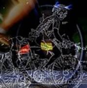 Bike Rider - Canada To Charleston To New Orleans Art Print