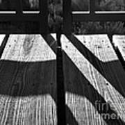 Bike Trail Bridge Bw Art Print