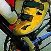 Biker Boy Foot Art Print