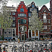 Bikes Everywhere In Amsterdam-netherlands Art Print