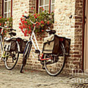 Bikes In The School Yard Art Print