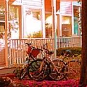 Bikes In The Yard Art Print