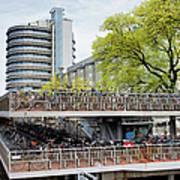 Bikes Parking In Amsterdam Art Print