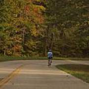 Biking In The Smoky Mountains Art Print