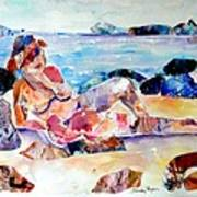 Bikini In Paradise Art Print