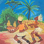 Bikutsi Dance 2 From Cameroon Art Print